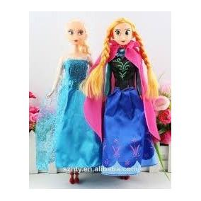 2 Bonecas Anna E Elsa Frozen 30 Cm- A Pronta Entrega S/caixa