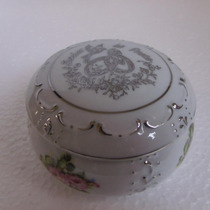 Porta Jóias Porcelana Pintado A Mão Bodas De Prata
