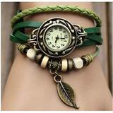 Lote 25 Unidades Reloj Pulsera Vintage Cuero Dama Relojes