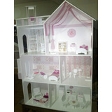 Casita De Muñecas Barbie C/ascensor,piscina Y Luz!! Super!!!