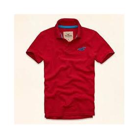 Camisa Hollister Polo Vermelha Pequena Frete Gratis