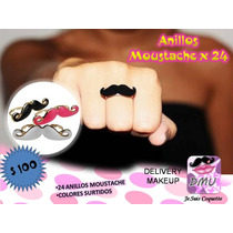 Anillos Moustache X24, Souvenirs, Spa Nenas, 15 Años