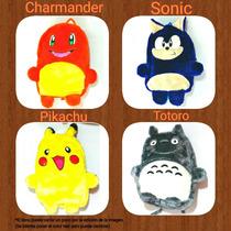 Mochila De Peluche Pokemon Charmander Picachu Totoro Sonic