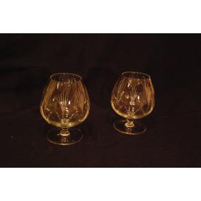 6 Copas De Cognac Cristal Labrado - Chicas