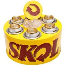 Cooler Térmico 3g Skol Para 6 Latas Cerveja Refrigerante