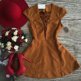 Vestido Suede Coleção Outono Inverno 2017