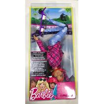 Nova Barbie Esportista Skatista Toda Articulada Mattel
