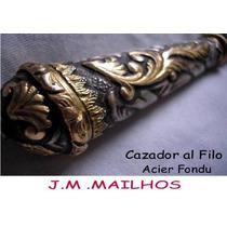 Cuchillo Mailhos Plateria Criolla Plata Y Oro Antiguo