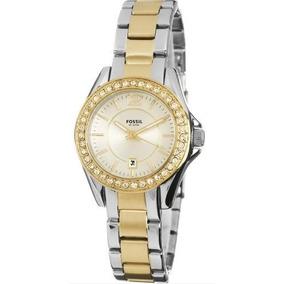 d9c67d4b7eec Vendo Precioso Reloj Fossil Negro Dorado Mujer Es 2823 - Fossil en ...