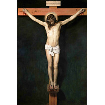 Lienzo Tela Cristo Crucificado De Velázquez Año 1632 74 X 50