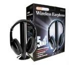 Fone Ouvido Sem Fio 5x1 Wi Fi Fm Tv Pc Jogos Filmes Wireless