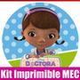 Kit Imprimible Doctora Juguete Tarjeta Invitacion Candy 2015