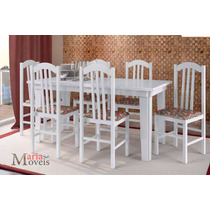 Mesa Lisboa Branco C/ 6 Cadeiras Lisboa 400