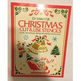 Livro Christmas Cut & Use Stencils Natal Artesanato Corte