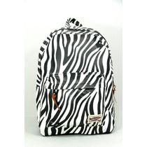 Mochila Feminina Escolar Estampa Bichos Zebra