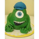 Torta Decorada 3d Mike Wazowski, Minnions