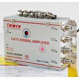 Amplificador De Señal Antena Cable Tv 4 Salidas 30db A 220v