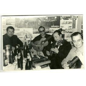 Guitarra Peña Sociedad Bar Foto Grupo C1960 Antigua Musica