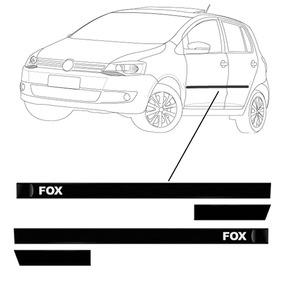 _jogo Friso Lateral Preto/não Cromado Fox 4p 03/11 Cod837387