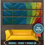 Cuadros Abstractos Modernos Impresos Tripticos 110x55 Cm
