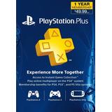 Playstation Plus 1 Año Ps4, Ps3, Psvita, Psp Envio Inmediato