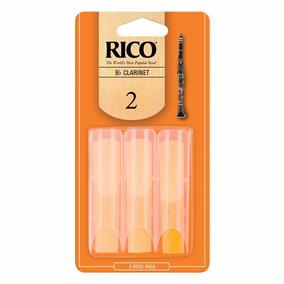 Juego De 3 Cañas Para Clarinete Rico # 2 Nuevas Made In U.sa