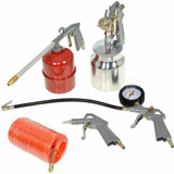 Kit Compresor Aire 5 Piezas Accesorios Máquina Pintar Inflar