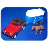 Jeep Wrangler Con Trailer Y Caballo 1/50 Siku Legitimo