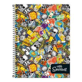 Caderno Universitário 10 Matérias Simpsons 200 Fls