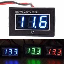 Voltímetro Digital Prova Dágua Moto Medidor Bateria 15-120v