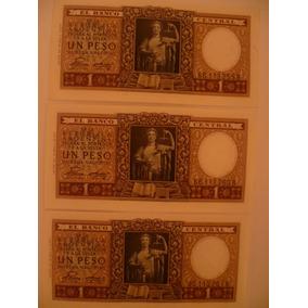 Billete Argentina 1 Peso Mon. Nac. Ley 12962/13571 Año 1947