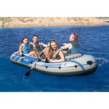 Bote Inflável Intex Excursion 4 Remos Bomba Barco C/ Suporte
