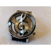 Reloj Nota Musical Clave De Sol + Envío Gratis