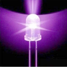 Led Uv F5 5mm Luz Ultra Violeta 390-395nm Ultralight