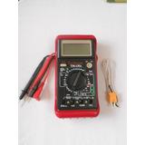 Multimetro Techman Tm 135a, Mide Condensadores, Temperatura