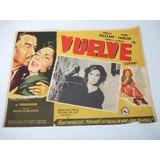 Cartel De Cine Pelicula Italiana Vuelve - Torna 1954