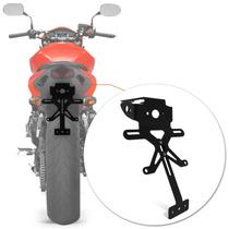 Suporte Placa Hornet Moto Eliminador Fixo Honda Rabeta Preto