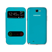 Samsung Galaxy Note 2 N7100 Flip Cover Piel S View Azul