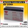 Bateria Gel 6v 10ah Yuasa Juguetes Luz Emergencia Ups