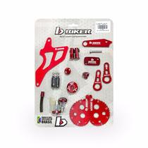 Kit 10 Acessórios Peças Alumínio Anodizado Vermelho Crf 230