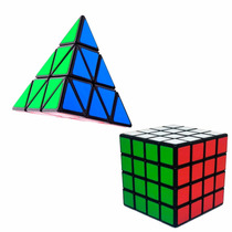 Kit Cubo Mágico 4x4x4 + Pyraminx Shengshou