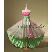 Precioso Vestido De Fiesta 15 - Novia, Importado - Envíos