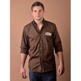 Camisa Pato Pampa Manga Larga Dakar 2013 S/bolsillo Marron