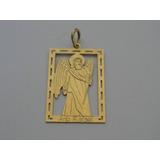 Pingente / Medalha De Ouro 18k - Anjo Rafael - Lindíssimo