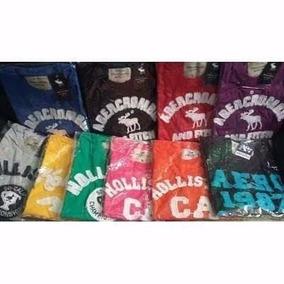 Kit C 5 Camisas Masculinas Hollister,aeropostale,abercrombie