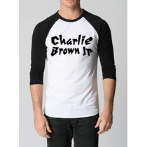 Camisa Charlie Brown Jr Raglan 3/4