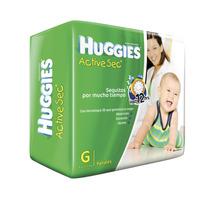 Pañales Huggies Active Sec Hiper-pack Punto Bebe