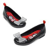 Sapato Minie Mouse Preto Bolinhas Disney Store Oficial T=26