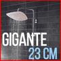 Flor De Ducha Gigante Smart 23cm Cromada Para Presion Normal