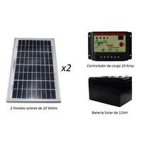 Sistema Aislado 20 Watts 12/24v. Envío Incluido